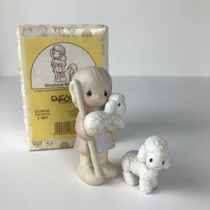 Precious Moments shepherd with sheep figurine